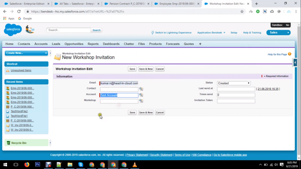 Salesforce Pension Management System
